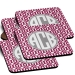Urban Monogrammed Coaster Set of 4