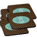 Polka Dots Monogrammed Coaster Set of 4