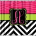 Matching Zebra Chevron Personalized Shower Curtain