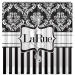 Matching Damask Stripes Personalized Shower Curtain