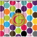 Matching Jumbo Dots Personalized Shower Curtain