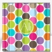 Personalized Shower Curtain Multi Color Jumbo Dots