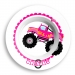Monster Truck Girls Personalized Bowl