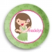 Hula Girl Personalized Plate