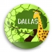 Safari Boy Personalized Melamine Plate