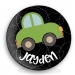 Roadster Personalized Melamine Plate - Boy