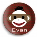 Sock Monkey Personalized Melamine Plate - Boy