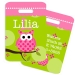 Owl Personalized Kids Bag Tag