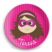 Personalized Girls Plate -Superhero Teresa