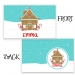 Gingerbread House Christmas Personalized Kids Placemat