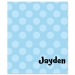Blue Polka Dots Personalized Velveteen Plush Blanket
