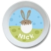 Bunny Chick Boy Personalized Kids Easter Bowl