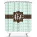 Chevron Ikat Personalized Shower Curtain