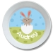 Bunny Chick Girl Personalized Kids Easter Bowl