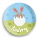 Bunny Chick Girl Personalized PlatePlate
