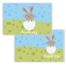Bunny Chick Girl Personalized Kids Placemat