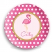 Pink Flamingo Personalized Plate