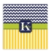 Chevron Stripes Pattern Personalized Shower Curtain
