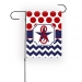 Chevron Polka Dots Personalized Garden Flag