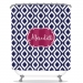 Teardrop Pattern Personalized Shower Curtain