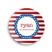 Stars and Stripes Personalized 4th of July Plate