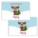 Merry Christmoose Personalized Kids Placemat