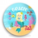 Little Miss Mermaid Girls Personalized Plate