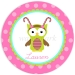 Candy Owl Personalized Christmas Plate