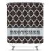 Quatrefoil Pattern Personalized Shower Curtain