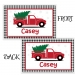 Christmas Truck Personalized Placemat, Custom Personalized Girls & Boys Placemat