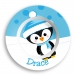 Penguin Boy Personalized Microwave Safe Bowl