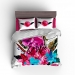 Flowers & Feathers Personalized Bedding Set, Duvet or Comforter