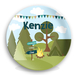 Camping Out Personalized Kids Plate