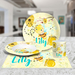 Honey Bee Personalized Girls Plate &  Bowl Set