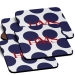 Polka Dot Monogrammed Coaster Set