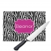 Zebra Monogrammed Cutting Board