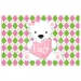 Bear Heart Personalized Placemat
