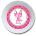 Candy Cane Kitty Girls Personalized Bowl
