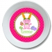 Carrot Ears Personalized Easter Bowl