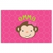 Monkey Face Girl Personalized Placemat