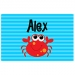 Mr Crab Boys Personalized Placemat