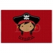 Pirate Face Girl Personalized Placemat