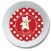 Polar Bear Polka Dots Personalized Christmas Bowl