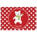 Polar Bear Polka Dots Personalized Christmas Placemat