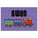 Choo Choo Train Boys Personalized Placemat