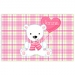 Valentine Bear Personalized Placemat