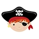 Red Hair with Eye Patch